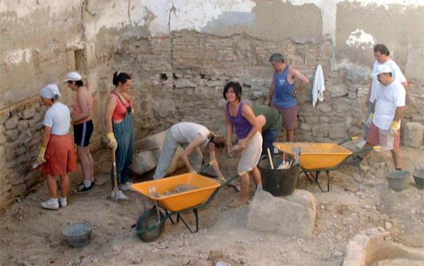 Grupo del Taller de arqueología